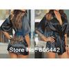 5Pcs/Lot Ladies Black Satin Lace Sexy lingerie/costumes/underwear Sleepwear Robe Free Shipping 30