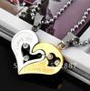 316L Stainless Steel Love You Heart Necklace Pendant Fashion Couple Jewelry Sets Free Shipping QL005