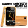 For iPhone 4 4s Case Original Bamboo Case Combined 2 Piece with Aluminum Card Buckled