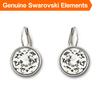 Bella clear crystal pierced earrings for women Made with Genuine Swarovski Elements Austrian crystal