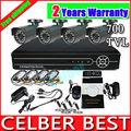 Vanxse CCTV 4CH DVR H.264 4X Cmos 700TVL 24IR Security Camera System surveillance System CCTV Complete system