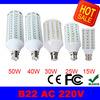 B22 10W 15W 25W 30W 40W 50W LED Corn Bulb Light Lamp AC 220V 230V 240V 60 84 98 132 165 leds LED Bulbs Lamps Lights