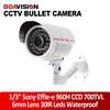 "Day/Night Vision1/3"" Sony Effio-e 700TVL 960H CCD IR CCTV Security Bullet Camera 6mm Lens 30 IR LED"