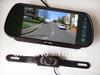 "New 7"" Car LCD TFT Monitor Mirror + 7 IR LED Car reversing Number Plate Camera Backup Parking Sensor Rear View Kit"