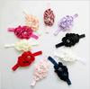 New Style baby Rhinestone Headband Hairband Baby Girls Flowers Headbands Kids' Hair Accessories Baby Elastic headban Gift 10PCS