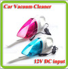 Free shipping 12v dc 40w hand held vacuum cleaner wet and dry mutifunctional red and blue color options