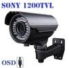720P Megapixel! 1200TVL Sony CCTV Varifocal lens Outdoor security bullet cameras 2.8-12mm lens IR Camera + Free shipping