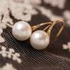 Fashion OL style simple pearl earrings 18k gold plated earrings for women 2014 new dangle earring girls free shipping wholesale