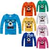 New 2014 cotton t shirts, long sleeve children t-shirts, cute glasses cartoon t-shirt, candy color bottoming t shirt, nova kids