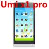 original 4.7 inch IPS UMI X1pro MTK6582 quad core 1GB RAM 4GB ROM 3G WCDMA android 4.2 UMI X1 pro smart mobile phone