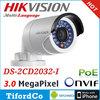 Original English DS-2CD2032-I Hikvision IP Camera 1080P HD 3MP Mini Bullet Camera CCTV Camera NightVision IR Security Camera Poe