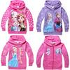 Frozen Elsa Children Outerwear Coats For Girls Brand Cartoon Jackets Winter Autumn Baby Kids Hoodies Clothing Roupas Infantil