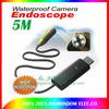 Waterproof Inspection Camera Tube Pipeline Camera Home  Borescope Endoscope 5M USB pc camera Free shipping