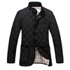2014 Autumn and winter plaid slim stand collar men's clothing wadded cotton-padded jackets men plus size 4XL 5XL Free shipping