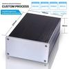 DIY HIFI OEM Custom Aluminium Extruded Electronic Enclosure Solar Junction Box 145*68-220 mm (WxHxL) metal box enclosure