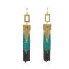 Hot Sale 2014 Fashion Design Tassel Chains Long Drop Earrings For Women