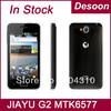 In stock Orignal Jiayu G2 1G white MTK6577 dual core phones android 4.0 GPS 4.0 Gorilla Glass/Koccis