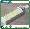 Free shipping G24 E27 7W 9w 10w 12w 15W LED Horizontal Plug PL Lamp with cover 5050 SMD LED light