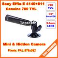 Surveillance 700TVL Sony Effio-E CCD HD 960H 3.6mm Lens Mini Bullet Outdoor Waterproof Hidden Security CCTV Camera Free shipping
