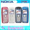 100% Original Nokia 3100 original unlocked phone GSM bar mobile phones cheap phones Free shipping via Singapore post