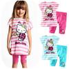 1 Set Retail 2014 New 100% cotton kids clothing set, T-shirt+pant, hello kitty children set, 2 colors available