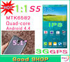 NEW 1:1 S5 i9600 Cell Phones 5.1 inch MTK6582 Quad Core 3G GPS 13.0 MP IPS 1280x720 Android 4.4 G900 Mobile Phone (4 Gifts )