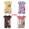 4~24 months, 21 Styles,  New 2014 Quality Cotton Branded Newborn Baby Girls Clothing Clothes One-pieces Creepers Rompers INS061