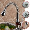 pull out and down faucet chrome swivel kitchen sink mixer vessel tap spray kitchen faucet L-8544 Mixer Tap Faucet