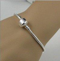 Comercio al por mayor de plata 10pcs plateado brazalete de serpiente / la mano de la cadena / sin shiping B010 (China (continental))