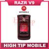 Motorola brand V9 100% original unlocked RAZR mobile phones 2MP English & Russian Keyboard Russian Menu Support Refurbished