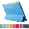 Retail New Ultra-thin models Triple Combination Leather case Folding Stand PU Smart cover Sleep Wake up essential for Ipad 2 3