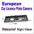 Hot! European car licence plate camera, promotion sale, 15$ Off per 150$ Order car parking camera, car camera