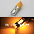 2pcs/Pair 7443 7440 T20 W21W WY21W 992 Power 5 SMD Car FRONT/REAR Turn Signal Bulb 7.5W LED Yellow Amber 12V