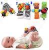 Free Shipping 20pcs /lot christmas gift baby wrist rattle foot finder,baby toy wrist rattle+foot socks