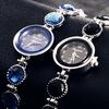 2014 Women Black Round Dial Casual Heart Bracelet Fashion Watch Time Quartz Reloj Clock Female Wristwatches Relogios Feminino