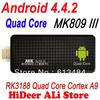 MK809 III Quad core RK3188 android tv stick 2GB RAM 8GB ROM bluetooth wifi Mk809III Mini PC dongle Android 4.4.2 Free Shipping