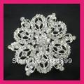 100pcs/lot 65mmGorgeous Rhinestone Brooch Pin,Wedding Bridal Crystal Pin, Chair Sash Pin Rhodium Plated