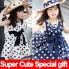 2014 New Fashion Summer Dress Chiffon Casual Girl Dress Dot Sleeveless kids dress Super Cute Princess Baby dresses for girls
