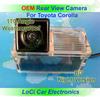 Free shipping! HD Rear View Toyota Corolla 2007- 2012 CCD night vision car reverse camera auto license plate light camera