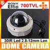 "700TVL 1/3"" Sony Super HAD CCD II 2.8-12mm Lens 30 IR Leds Dome WDR Surveillance CCTV Security Camera"