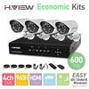 4CH CCTV System 960H DVR HDMI 4PCS 600TVL IR Weatherproof Outdoor CCTV Camera Home Security System Surveillance Kits