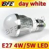 4pcs/Lot E27 3 LED 4W/5 LED 5W Warm/Cold White Bubble Ball Globe Light Bulbs Bright Dropship