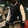 2013 Hot Men's Jacket Baseball Fashion Jackets,Basketball Jackets 3 Color: Black,Red,Navy Free Shipping 5Size:M-XXXL NY13