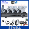 700TVL SONY CCD 4ch Kit CCTV DVR Day Night Waterproof Security Camera Surveillance Video System Home DIY CCTV systems