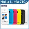 "Nokia Lumia 710 cellphone Original Sabre WIFI 3G GPS 5MP 3.7""TouchScreen 8GB Internal storage Unlocked Mobile Phone Free ship"
