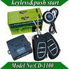 Promotional RFID Car Alarm,smart key car security system, PKE antenna,blue back light push start button,bypass module optional!