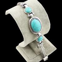 Ttibetan plata turquesa pulsera retro cóctel joyas gratis B009 Shipping (China (continental))