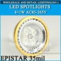 led Spotlights Epistar 35mil 4W 400lm E27 E14 GU10 MR16 B22 AC85~265V Cool White / Warm White, Free hipping