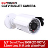 "Sony Video Camera 0riginal 1/3"" Sony Effio 700TVL CCD IR CCTV security camera 3.6mm night vision bullet 30M LED with bracket"