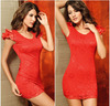 2014 Fashion Sexy Hot Lace Dresses Backless Mini Short Party Club Dress and Bow Decoration On The Waist ,Women's Clothing